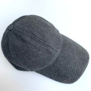 Gray Knit Baseball Cap